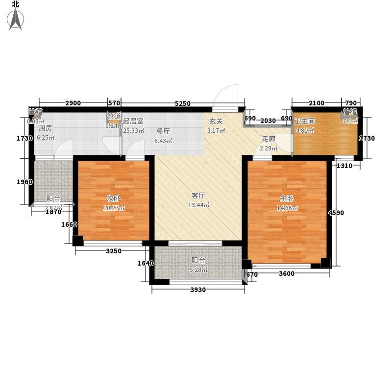 望湖公寓81.00㎡B户型2室2厅