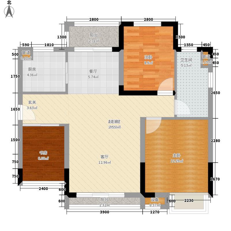 芭蕾雨逸景83.00㎡H2-a公寓户型