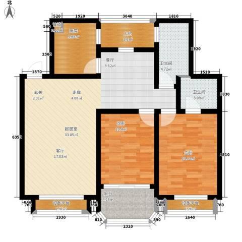 华府名邸2室0厅2卫1厨95.00㎡户型图