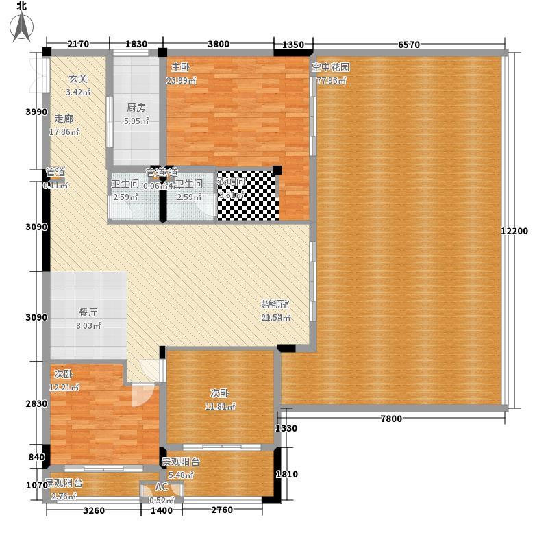 中和龙沐湾·海润源158.00㎡C1户型3室2厅