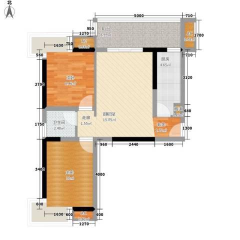 银汇华庭2室0厅1卫1厨74.00㎡户型图