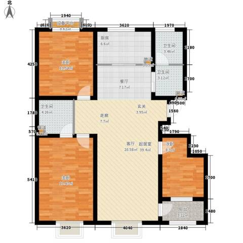 正定 荣国花园3室0厅3卫1厨143.00㎡户型图