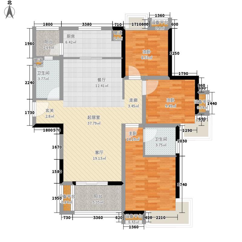 中信森林湖110.00㎡香樟林2期标准层户型3室2厅