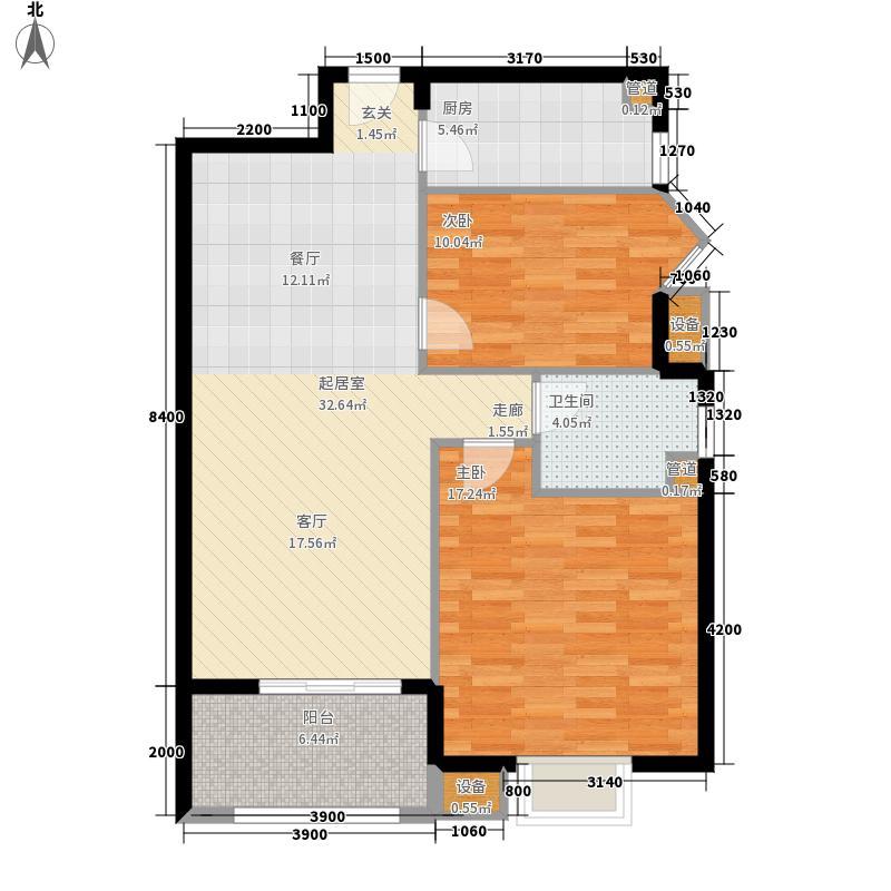 明珠花苑94.48㎡18#楼1单元02户面积9448m户型
