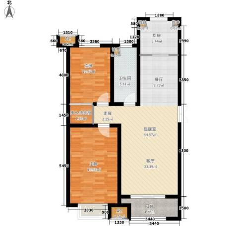 泰丰观湖2室0厅1卫1厨116.00㎡户型图