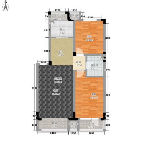 月潭半山洋房2室0厅1卫1厨88.00㎡户型图