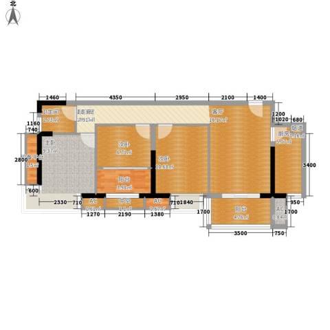 银汇华庭3室0厅1卫1厨97.00㎡户型图