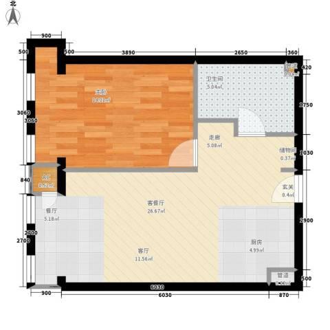 云鼎1室1厅1卫0厨65.00㎡户型图