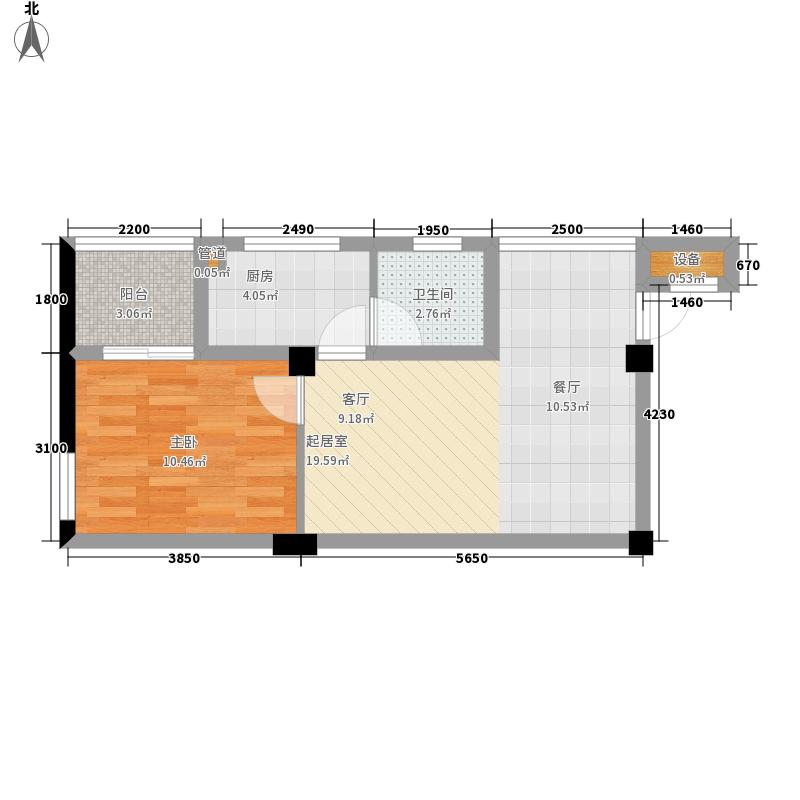 兴隆家和园57.95㎡E平面图户型