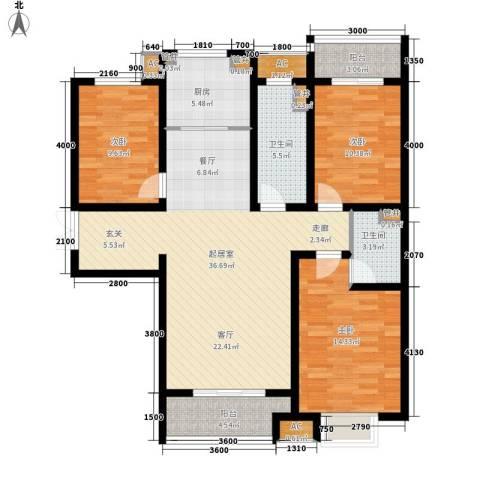 泰丰观湖3室0厅2卫1厨140.00㎡户型图