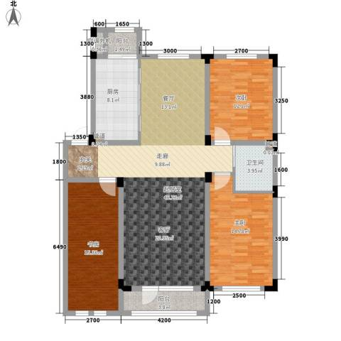 月潭半山洋房3室0厅1卫1厨107.00㎡户型图