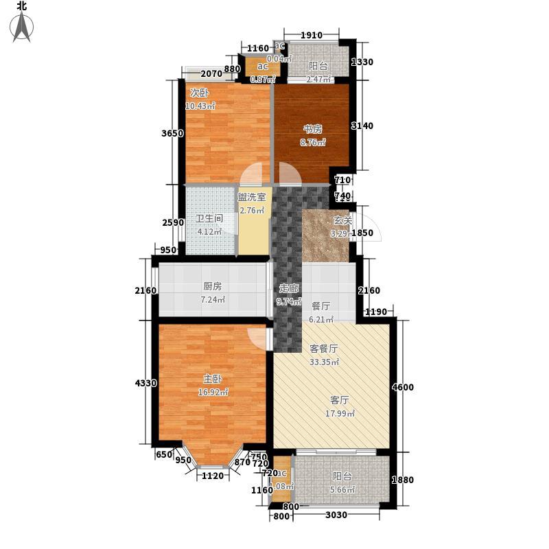 复地公园城邦•阳光岛105.89㎡复地公园城邦阳光岛户型3室2厅