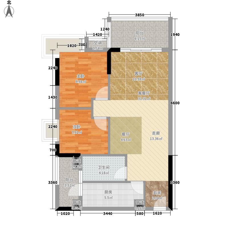 城市假日园79.15㎡E1栋2-10层04面积7915m户型