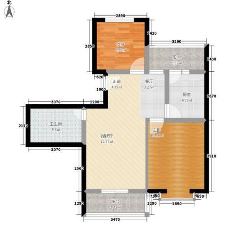 和谐家园2室1厅1卫1厨101.00㎡户型图