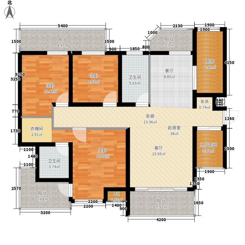 中国铁建·书香小镇135.00㎡A5户型3室2厅