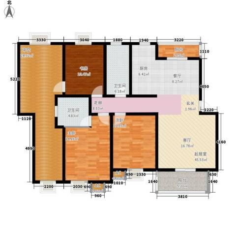 永利华都3室0厅2卫0厨138.00㎡户型图