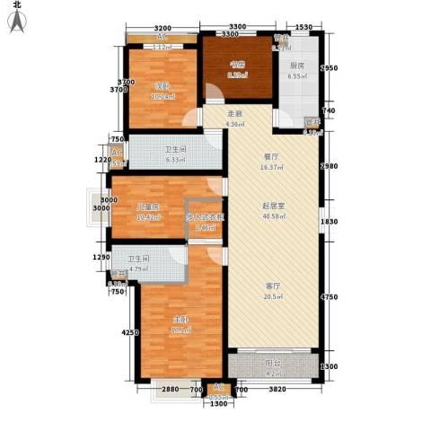 泰丰观湖4室0厅2卫1厨165.00㎡户型图
