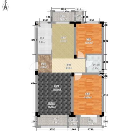 月潭半山洋房2室0厅1卫1厨81.41㎡户型图