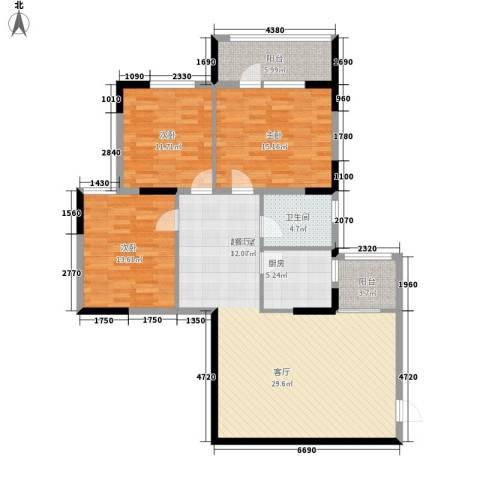 远东大厦3室0厅1卫1厨113.00㎡户型图