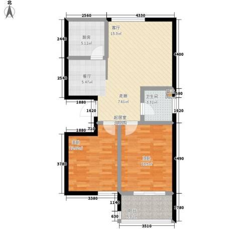 碧水秀城2室0厅1卫1厨90.00㎡户型图