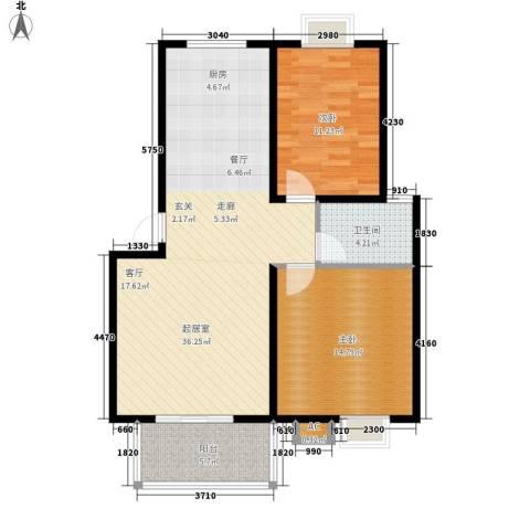 永利华都2室0厅1卫0厨84.00㎡户型图