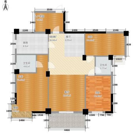 统建水岸人家3室1厅2卫1厨131.00㎡户型图