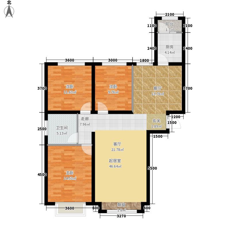 万锦枫泽湾139.00㎡万锦枫泽湾户型图D1(5/13张)户型3室2厅2卫
