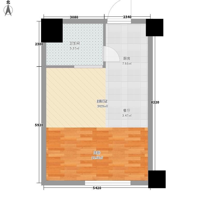 皇册家园45.00㎡面积4500m户型