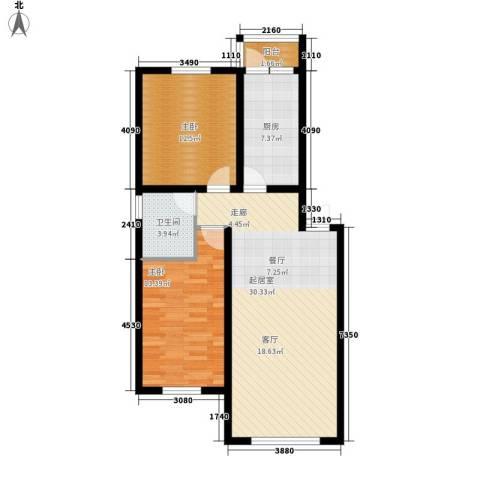 展轮新世界2室0厅1卫1厨98.00㎡户型图