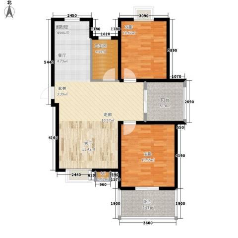 永利华都2室0厅1卫0厨86.00㎡户型图
