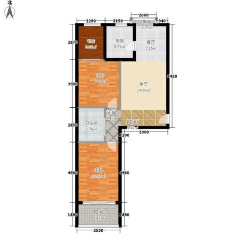 世源佳境3室1厅1卫1厨115.00㎡户型图