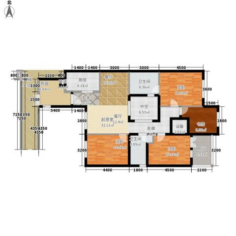 无庶4室0厅2卫1厨171.00㎡户型图