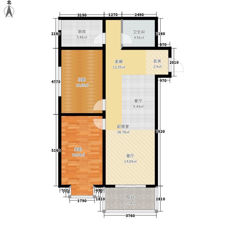 翰林雅筑94.12㎡6号楼B面积9412m户型