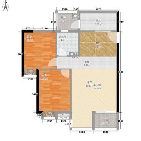 小北御景2室0厅1卫1厨82.00㎡户型图