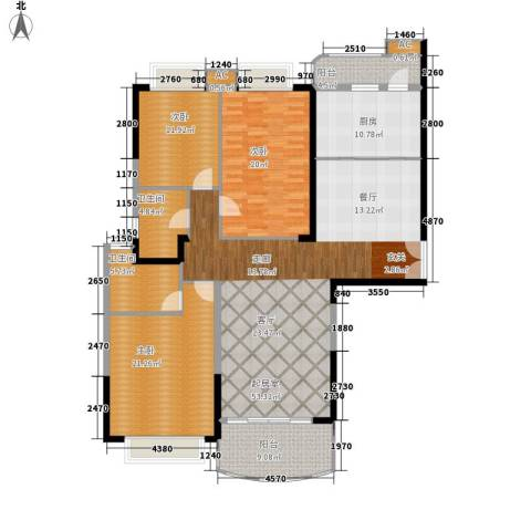 金碧世纪花园3室0厅2卫1厨158.00㎡户型图