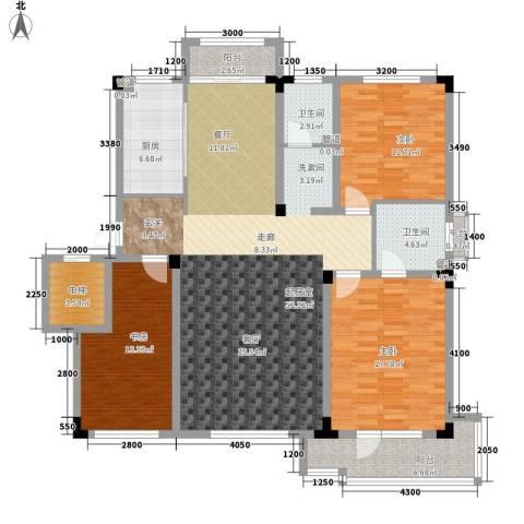 月潭半山洋房3室0厅2卫1厨133.00㎡户型图