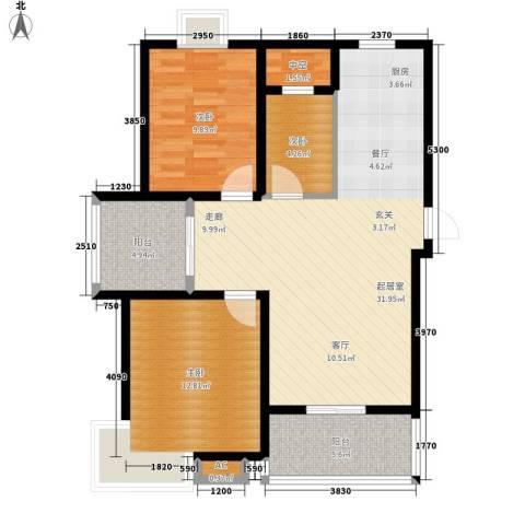 永利华都3室0厅0卫0厨86.00㎡户型图