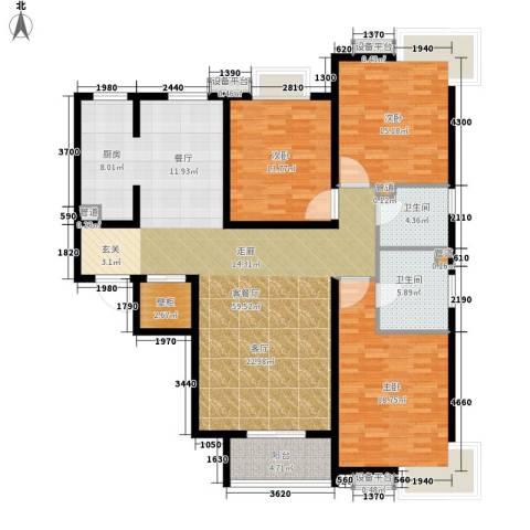 富源城3室1厅2卫0厨143.00㎡户型图