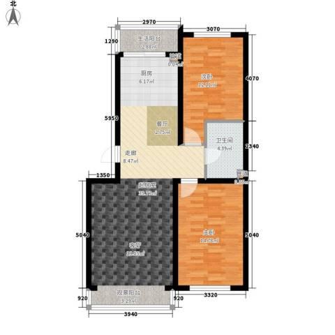 建龙第一城2室0厅1卫0厨104.00㎡户型图
