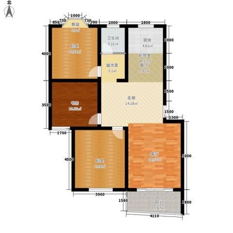 卸甲山庄1室0厅1卫0厨134.00㎡户型图