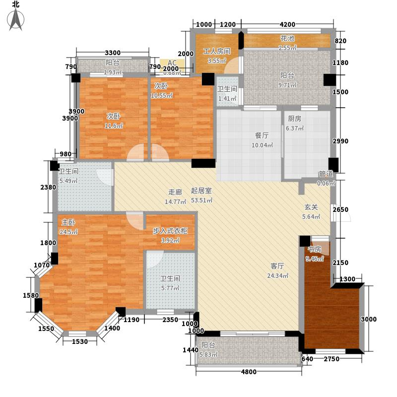 中华名园175.20㎡G+型面积17520m户型