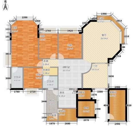 沁馥佳苑4室0厅2卫1厨173.00㎡户型图