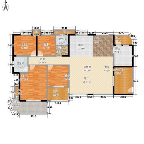 顺天黄金海岸4室0厅2卫1厨164.00㎡户型图