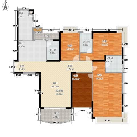 金碧世纪花园4室0厅3卫1厨203.00㎡户型图