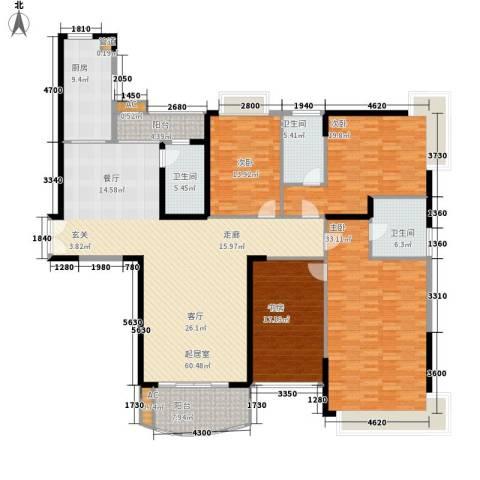 金碧世纪花园4室0厅3卫1厨204.00㎡户型图