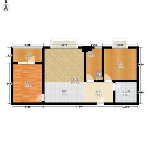 名门大厦2室0厅1卫1厨87.00㎡户型图