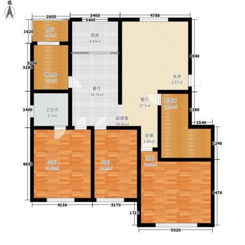 蒙鑫国际名城3室0厅2卫1厨149.00㎡户型图