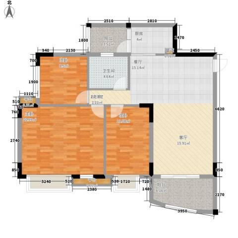 沁馥佳苑3室0厅1卫1厨103.00㎡户型图