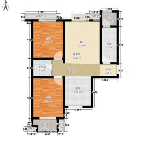 富源城2室1厅1卫1厨108.00㎡户型图
