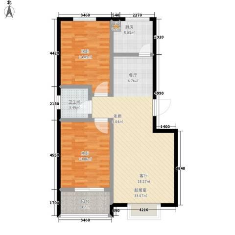 碧水秀城2室0厅1卫1厨97.00㎡户型图